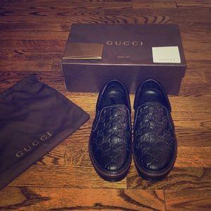Men's Gucci Stamp Deck Shoe